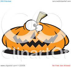 cute jack o lantern clipart cartoon of a nearly flat jackolantern halloween pumpkin royalty