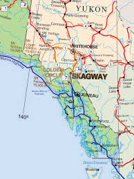 Alaska On A Map by Maps Skagway Alaska