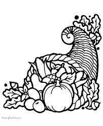 thanksgiving cornucopia coloring pages happy thanksgiving