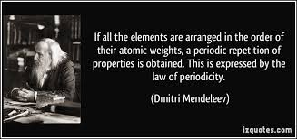 Who Is Credited With Arranging The Periodic Table If All The Elements Are Arranged In The Order Of Their Atomic