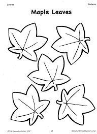 traceable leaf coloring page free download