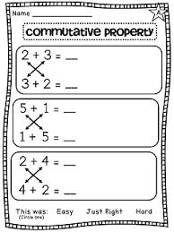 commutative property of addition differentiated worksheets math