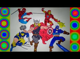 superheroes spiderman thor iron man captain america