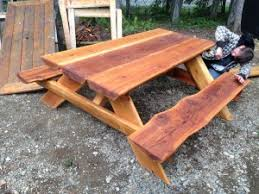 live edge outdoor table about pds woodwork picnic table rentals and custom woodwork