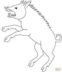 wild boar coloring page free printable coloring pages