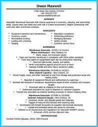 Forklift Operator Resume Examples by Assembly Operator Resume Youtuf Com