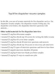 technician sample resume fire technician sample resume animal health technician sample fire alarm technician sample resume head swim coach sample resume top8firedispatcherresumesamples 150723074639 lva1 app6892 thumbnail 4