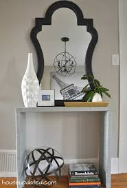 Entry Console Table With Mirror No More Blank Walls In The Entry House Updated