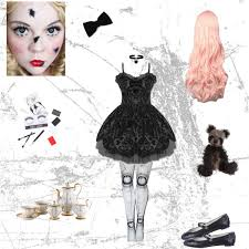 Porcelain Doll Halloween Costumes Broken Doll Costume Evangeline Purdy Polyvore Featuring