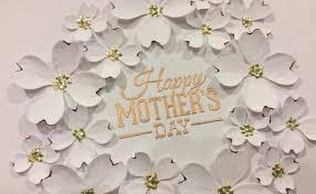 elegant mother u0027s day card tutorial diemond dies dtp youtube