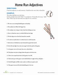 find the adjectives worksheet education com
