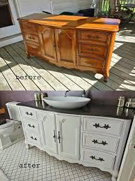 Old Dresser Made Into Bathroom Vanity Best 25 Dresser To Buffet Ideas On Pinterest Distressed