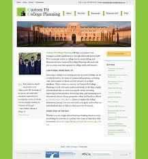 website launch custom fit college planning internet à la carte