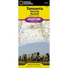 Mt Kilimanjaro Map Tanzania Rwanda And Burundi Adventure Map National Geographic Store