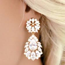 drop bridal earrings bridal drop earrings marquise cubic zirconia teardrop bridal