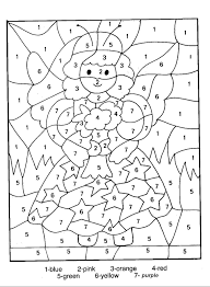 easy color by numbers coloring pages getcoloringpages com