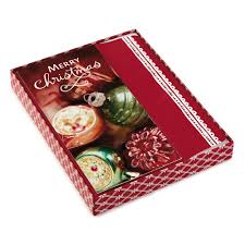 16 count elegant ornaments boxed holiday cards