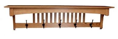 mission oak wall shelf u0026 coat rack home essentials amish