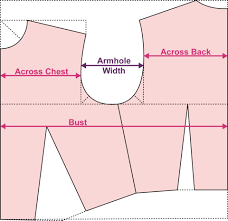 across chest and back vs the bust circumference sewfitography