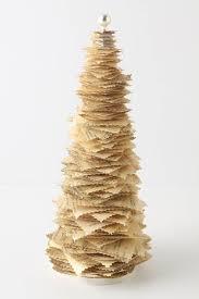 christmas crafts paper tree use sheet music regular book road