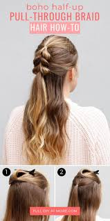 cute hairstyles pull through braid pulled up hairstyles brilliant of kim easy variatons women stock
