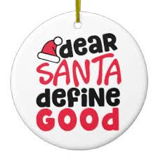 santa define ornaments keepsake ornaments zazzle