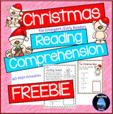 december reading activities free christmas reading comprehension