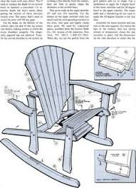 Outdoor Woodworking Projects Plans Tips Techniques by Adirondack Rocking Chair Plans Outdoor Furniture Plans
