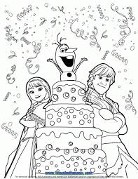 birthday coloring sheets kristoff anna olaf surprise birthday coloring page disney frozen