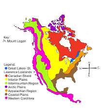 Physical Map Of North America by North America Kaitlyn U0027s Blog