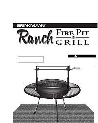 Firepit And Grill by Brinkmann Fire Pit Fire Pit U0026 Grill User Guide Manualsonline Com