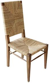 Teak Table And Chairs Stewart Teak And Seagrass Dining Chair With Woven Seat And Back