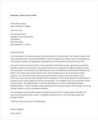 cover letter internship 9 internship cover letter free sle exle format