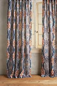stretched ikat curtain anthropologie room and living rooms