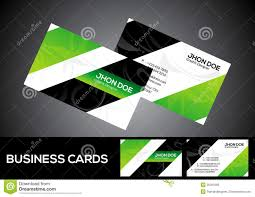 abstract green business card template royalty free stock image