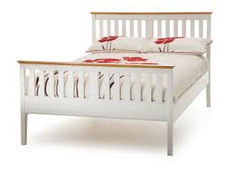 White Wood King Bed Frame Home Decorating Pictures White Wood Bed Frame