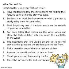 what to write on a paper fortune teller cootie catchers fortune tellers superb study tools for cootie catcher directons 3