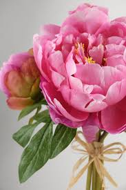 Fake Peonies Peony Bouquet 14in