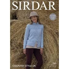 sirdar country style dk cardigan pattern 7829 hobbycraft