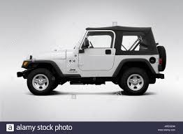 2006 jeep wrangler x in silver drivers side profile stock photo