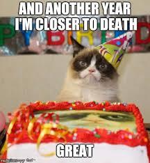 Birthday Meme Cat - grumpy cat birthday memes imgflip