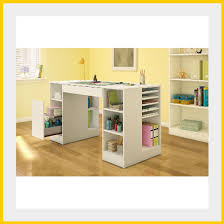 craft table with storage organizer home hobby sewing art white