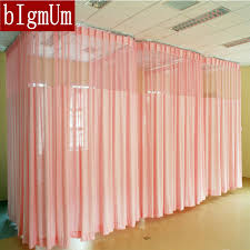 free shipping hospital curtains fireproof solid color room divider