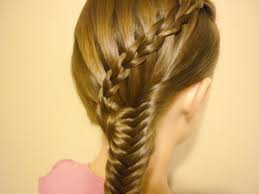 diving hairstyles scissor waterfall braid fishtail combo hairstyle youtube