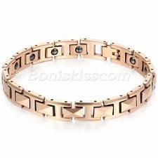 mens rose gold bracelet images Mens rose gold bracelet ebay jpg