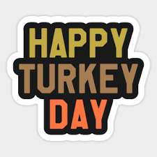turkey stickers thanksgiving thankful thanksgiving turkey stickers teepublic