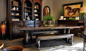 Bench Style Dining Tables Dining Table Farm Style Dining Room Table With Bench Picnic