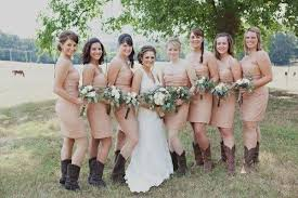 bridesmaid dresses with cowboy boots casual bridesmaid dresses with boots naf dresses