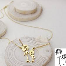 personalized jewelry for kids actual kids drawing necklace children artwork necklace kid