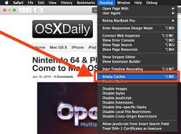 how to empty cache in safari for mac os x